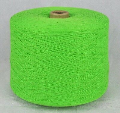 Large Fine Quality Fair Knitting Machine Cone Yarn Wool ~ 1200g Lime Light Green