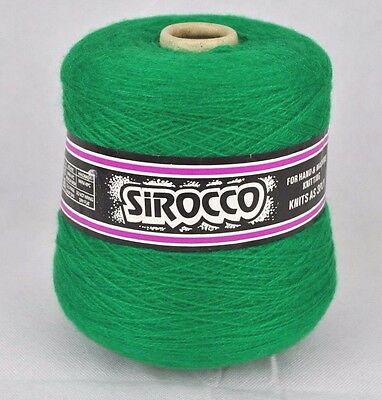 Sirocco Forsell 3 Ply Knitting Hand & Machine Cone Yarn Wool ~400g Emerald Green