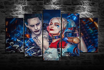 "Harley Quinn and Joker HD Canvas Print 24/""x42/"" Home Decor  Wall Art Pictures"