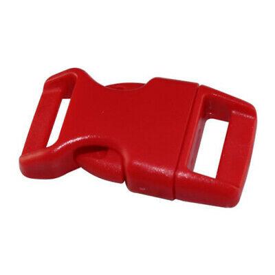 10x 15mm Plastic Side Quick Release Buckles For Webbing Bag Strap Clips 5/8 I1E2