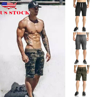 US Summer Men Jogger Training Casual Sport Fitness Gym Shorts Workout Sweatpant