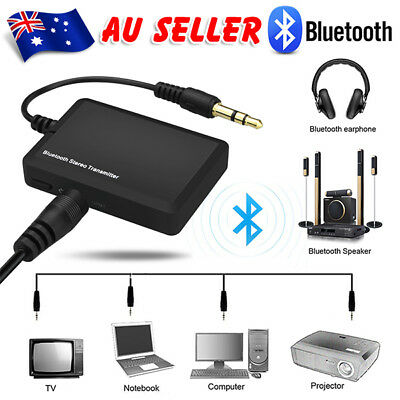 3.5mm Bluetooth Audio Transmitter A2DP Stereo Dongle Adapter for TV iPod Mp3 MP
