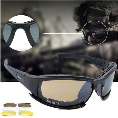X7 Tactical Shooting Goggles Polarized Cycling Sunglasses with Night Vision XC wEphR