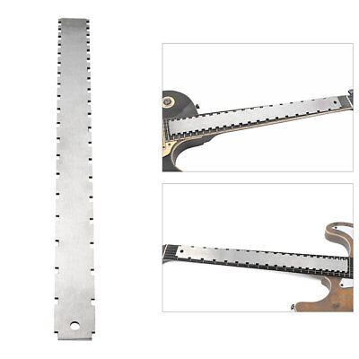Steel Electrical Guitar Neck Notched Straight Edge Frets Measure Tool IZ