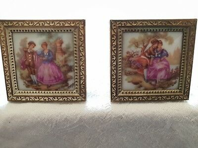 DOLLS HOUSE furniture Limoges miniature pictures in frames - £5.99 ...