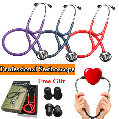 "27"" 3 Color Professional Cardiology Single Head Stethoscope Medical Doctor Nurse"