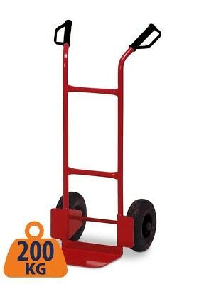 Sack Truck Heavy Duty Red Metal 200KG Dolly Barrow Hand Cart Warehouse Trolley