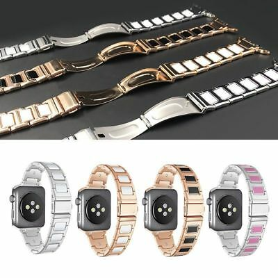 Ceramic Bracelet Stainless Steel Watch Strap Wrist Band For Apple iWatch 38/42mm