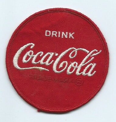 Drink Coca-Cola Driver patch 3 in dia  Cheesecloth back