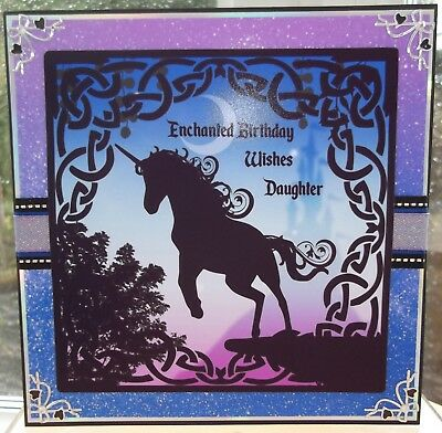 Handmade Personalised Fantasy Gothic Mens Boys Birthday Card With A