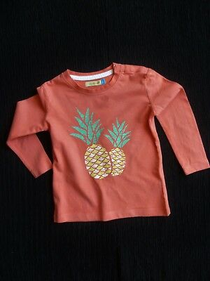 Baby clothes GIRL 18-24m Lily&Dan apricot-pink, pineapple, long sleeve t-shirt
