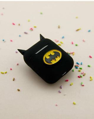 info for b51be e10ec AIRPODS COVER SILICONE shockproof for Bluetooth Earphones Batman Strap cute  case
