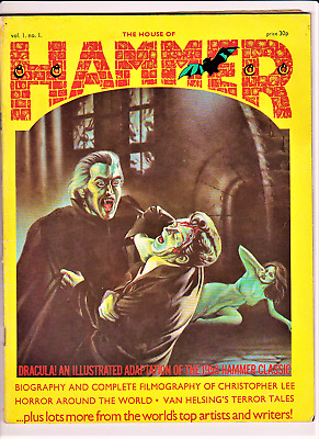 THE HOUSE OF HAMMER # 1 1976 Dez Skin issue one Dracula