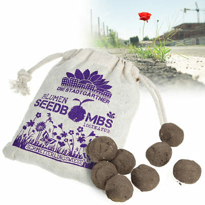 Seedballs Schmetterlingswiese, Samenbomben Diy Seedbombs Saatgut