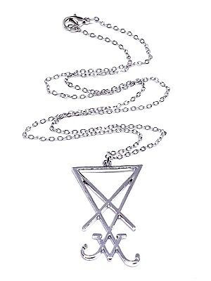 Sigil Church of Satan Seal of Lucifer LaVey Occult Devil Chain Necklace Pendant