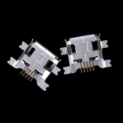 20Pcs 5-pin Female Micro USB Connector 4 feet Jack Socket SMD Charging GS
