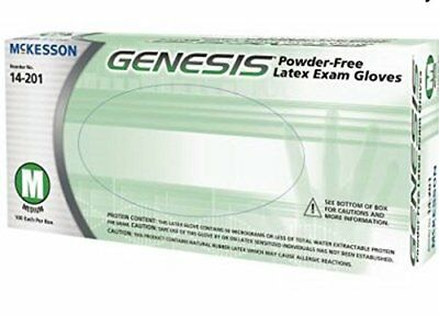 McKesson GENESIS Powder-Free Latex Exam Gloves - Small, 100 Each / Box