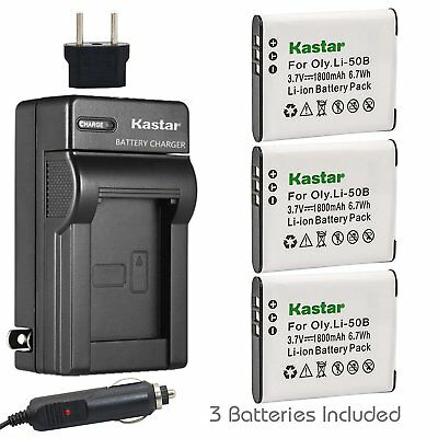 Li-50B Battery or Travel Charger for OLYMPUS Stylus 1010 1020 1030SW 9000 9010