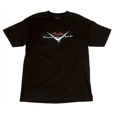 Fender T-Shirt Custom Shop Original Logo Black, M