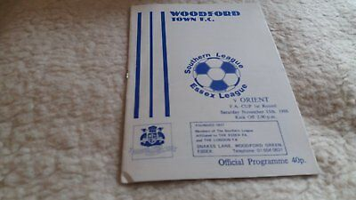Woodford Town v Orient 1986/87 FA Cup