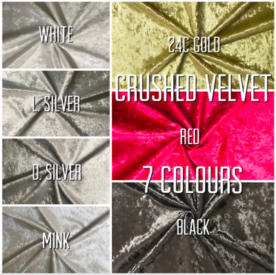 GREAT OFFER Upholstery Ice Crushed Velvet Fabric Material Sofa Curtain Furnishin