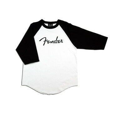 Fender Baseball Logo T-Shirt - Black/White Size L