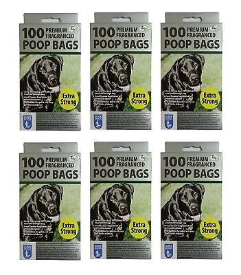 600 DOGGY BAGS - *EXTRA STRONG PREMIUM FRAGRANCED* Scented Pet Bag Dog Cat Poo