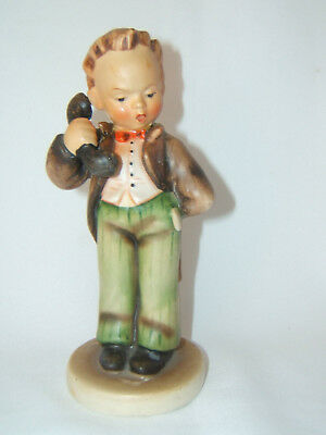 "Vintage PRE-WAR Goebel Hummel ""Hello"" Boy On Telephone Figurine #124/0  Repaired"