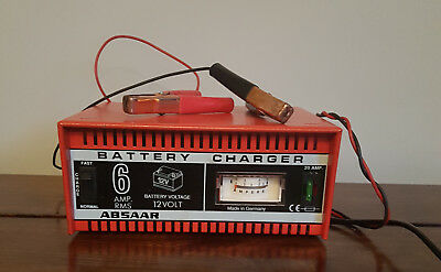 absaar battery charger 12v 6a with crocodile clips car. Black Bedroom Furniture Sets. Home Design Ideas