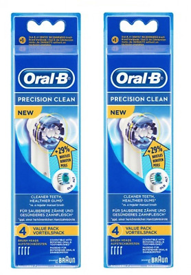 8 x BRAUN Oral-B Precision Clean Toothbrush Replacement Brush Heads - EB20-4