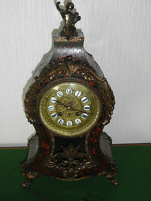 Victorian Boulle Mantle Clock By Japy Freres