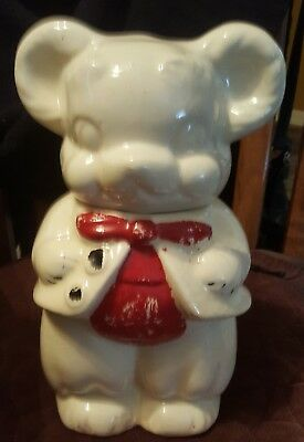 Vintage 1950s Turnabout Cookie Jar Boy & Girl Bear