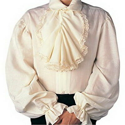 Colonial Shirt Men's 18th Century Period Costume Shirt Ivory Or White