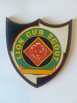 Vintage Official Lion Cub Scout Award Plaque 1940s BOY SCOUTS OF AMERICA