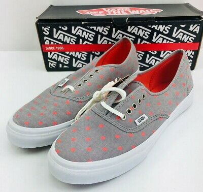 d8a34eac87 VANS Authentic Slim Chambray Dots Grey Hot Coral Unisex NEW IN BOX  VN-0QEV8JB