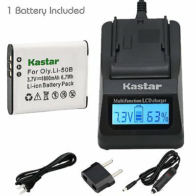 Li-50B Battery or Fast Charger for OLYMPUS Stylus 1010 1020 1030SW 9000 9010