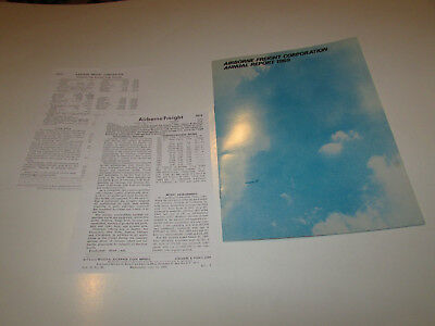 Airborne Freight Corporation: Annual Report 1969 vintage-  BOEING 747 - RARE!