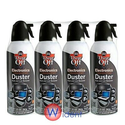 4Pk Falcon Compressed Air Gas Duster Cans Computer Dust Off 10oz Keyboard