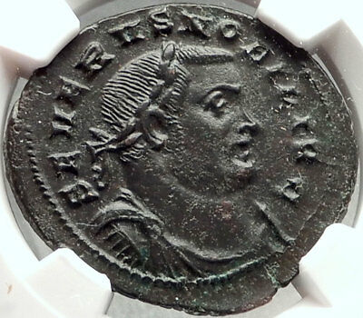 SEVERUS II 305AD London Londinium Mint Authentic Ancient Roman Coin NGC i68405