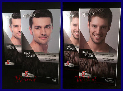 2 Pack Epielle Permanent Hair Dye for Men in 5 Minutes