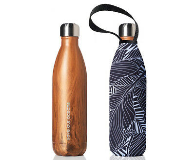 BBBYO Future Bottle & Carry Cover 500mL - Black Leaf Print