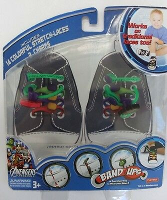 Marvel Avengers Band Ups 14 colorful stretch-laces and 2 Charms NIB
