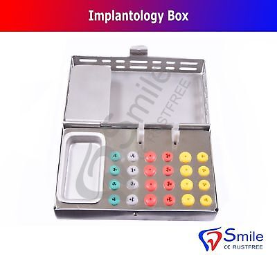 Implantology Box Dental Implant Surgical Bur Holder Endo Silicone Box Smile UK