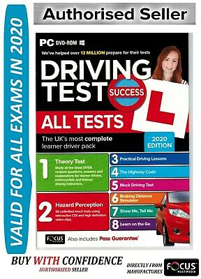 2019 Driving Theory Test Success All Tests & Hazard Perception PC DVD NEW-ATpc