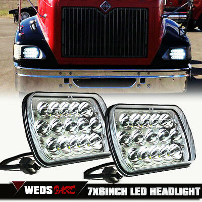 2x LED Headlights Sealed Headlamps International 5900i 7300 7400 9200 9400 9900