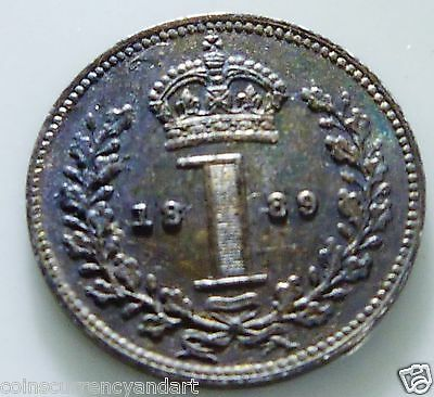 MAUNDY 1889 ONE PENCE UK (Great Britain) 1d
