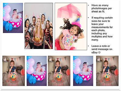 YOUR OWN EDILBE MULTI PHOTO topper ANY personalised images QualityICING or WAFER