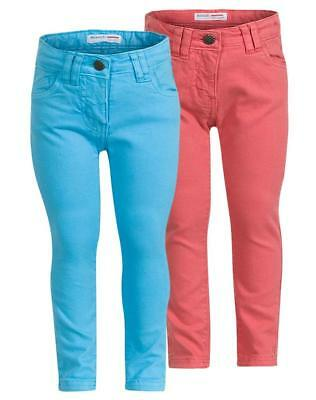Girls Denim Colored Cotton Skinny Jeans Denim Cropped Jegging Age 3-12 Years