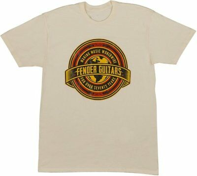 Fender Worldwide Logo T-Shirt Tan, L