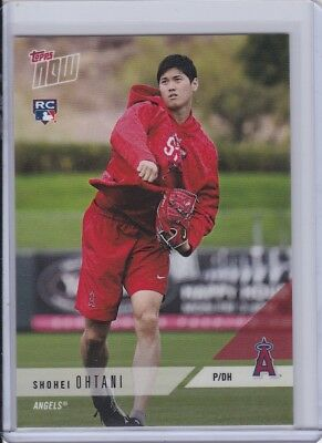 2018 Topps NOW OD-167 Shohei Ohtani Road to Opening Day RC Los Angeles Angels